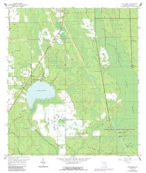 Lake Ashby topo map