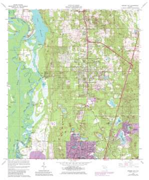 Orange City USGS topographic map 28081h3