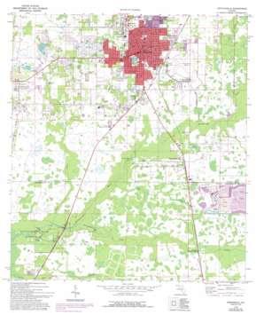 Zephyrhills topo map