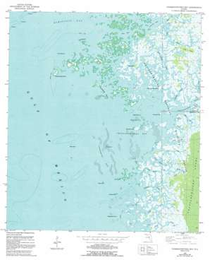 Chassahowitzka Bay USGS topographic map 28082f6