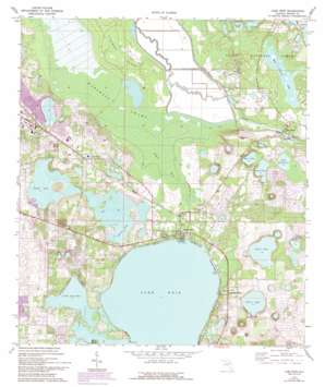 Lake Weir USGS topographic map 29081a8