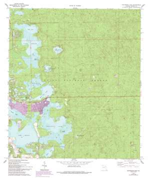 Halfmoon Lake topo map