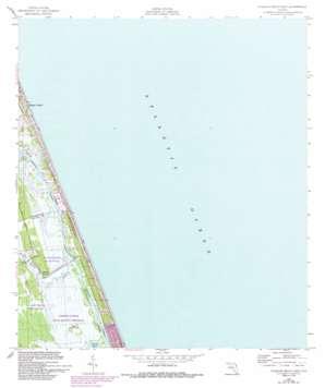 Flagler Beach East USGS topographic map 29081d1