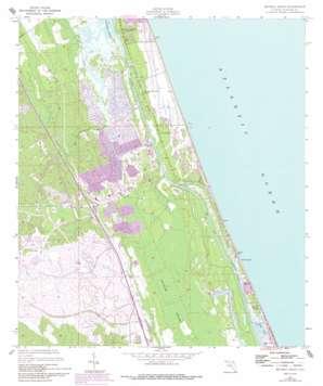 Beverly Beach topo map