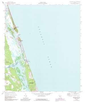 Matanzas Inlet USGS topographic map 29081f2