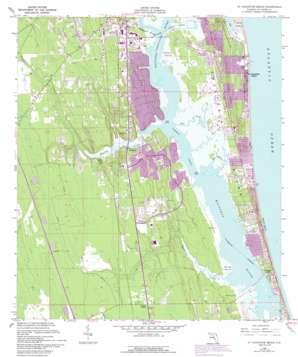 Saint Augustine Beach topo map