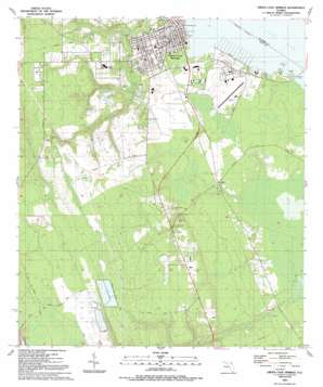 Green Cove Springs topo map