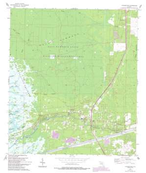 Yankeetown topo map