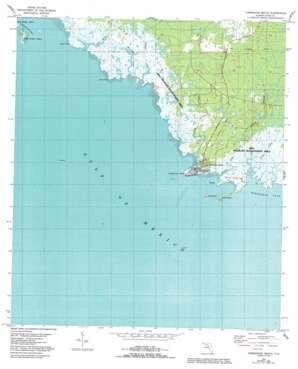 Horseshoe Beach topo map