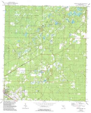 Cross City East USGS topographic map 29083f1
