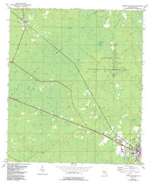 Cross City West USGS topographic map 29083f2