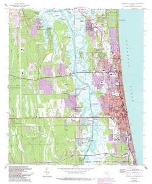 Jacksonville Beach topo map