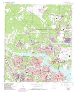 Trout River topo map