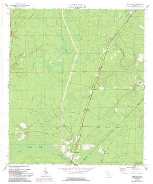 Bryceville topo map