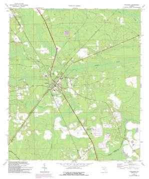 Callahan topo map