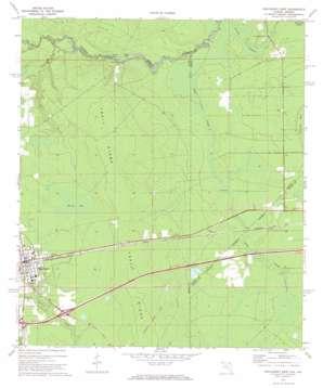 Macclenny East topo map