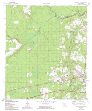 Macclenny West topo map