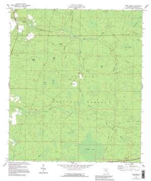 Deep Creek topo map