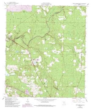 White Springs East topo map