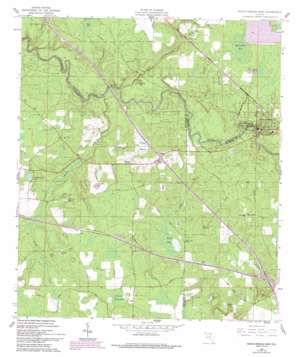 White Springs West topo map