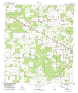 Live Oak West topo map