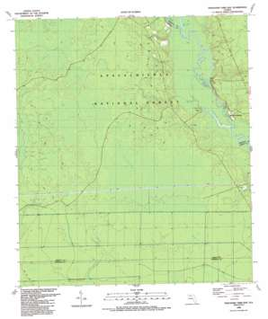 Thousand Yard Bay topo map
