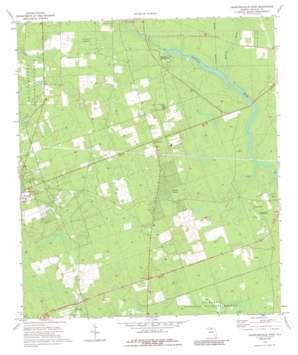 Crawfordville East topo map