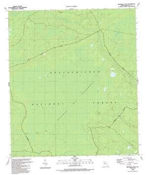 Bradwell Bay topo map
