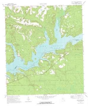 Lake Talquin topo map