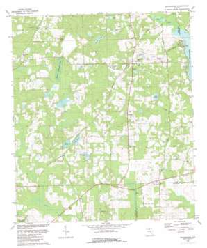 Miccosukee topo map