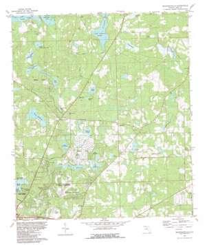 Bradfordville topo map