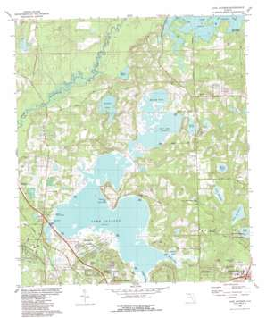 Lake Jackson topo map