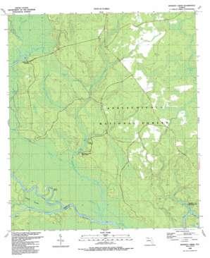 Kennedy Creek topo map
