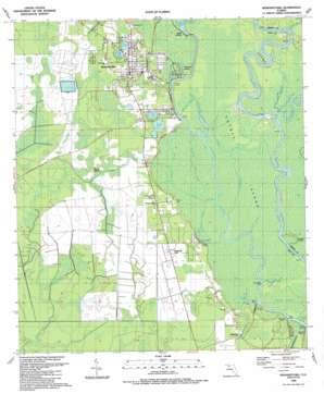 Wewahitchka topo map