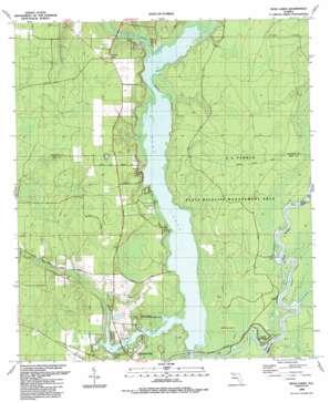 Dead Lake topo map