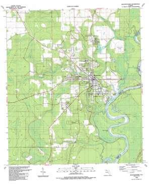 Blountstown topo map