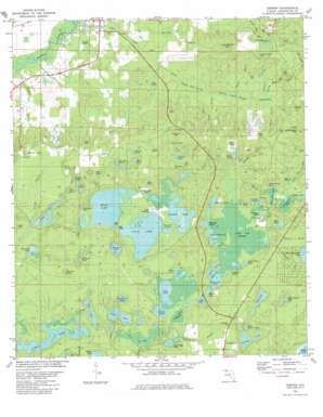 Vernon topo map