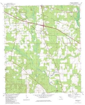 Oakdale topo map