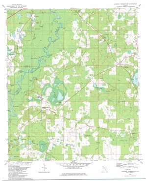 Hinsons Crossroads topo map
