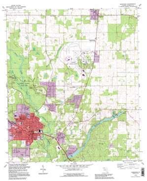 Marianna topo map