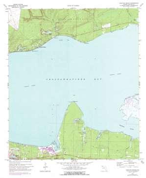 Choctaw Beach topo map