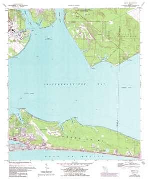 Destin topo map