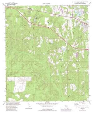De Funiak Springs West topo map