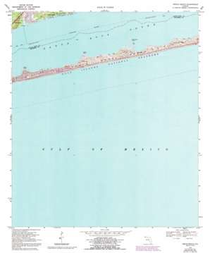 Oriole Beach topo map