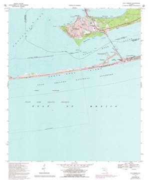 Gulf Breeze topo map