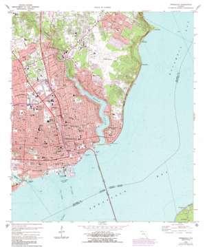 Pensacola topo map