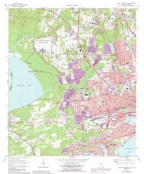 West Pensacola topo map