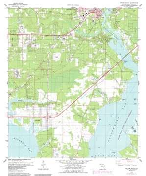 Milton South topo map