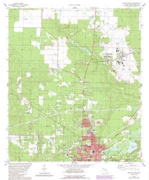 Milton North topo map