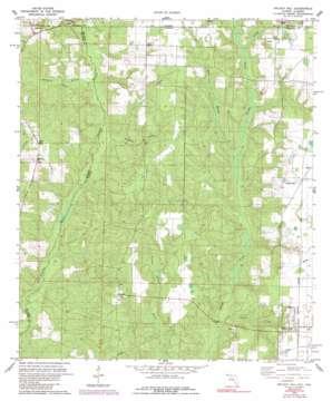 Walnut Hill topo map